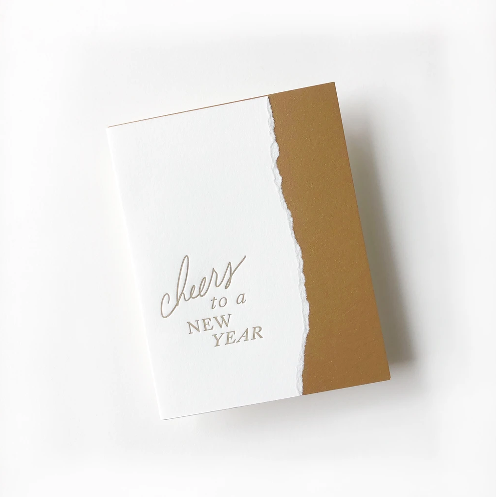 Cheers to a New Year greeting card