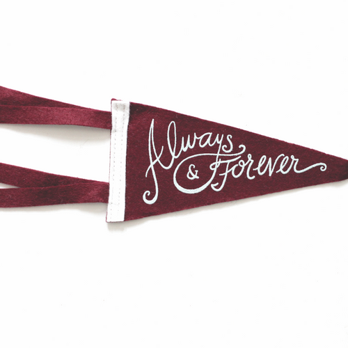 Always & Forever pennant card