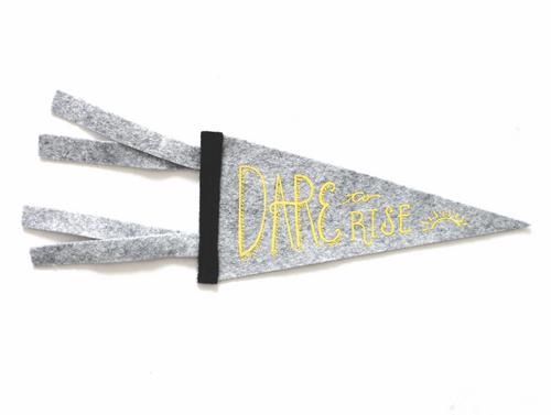 Dare to Rise pennant card
