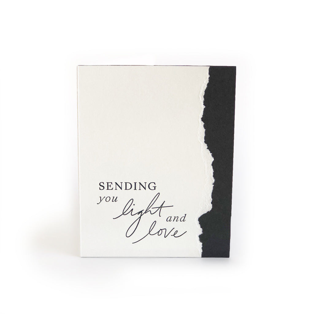 Sending You Light & Love greeting card
