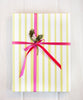 Stripes green Gift Wrap Roll