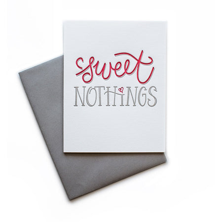 Sweet Nothings greeting card