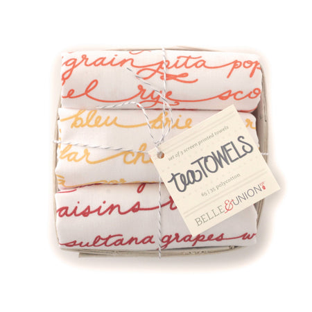 Supper Club tea towel set