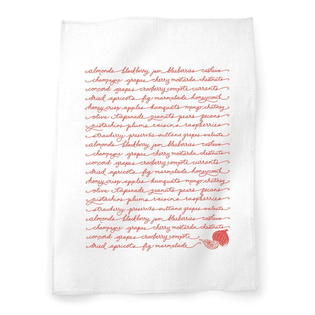 Fruits & Nuts Tea Towel