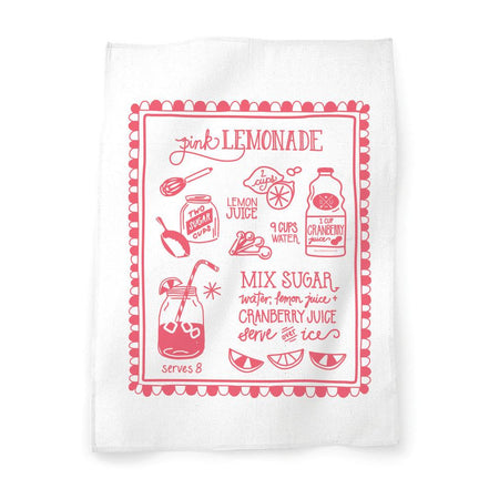 Pink Lemonade Tea Towel