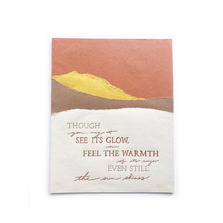 The Sun Shines torn paper art print