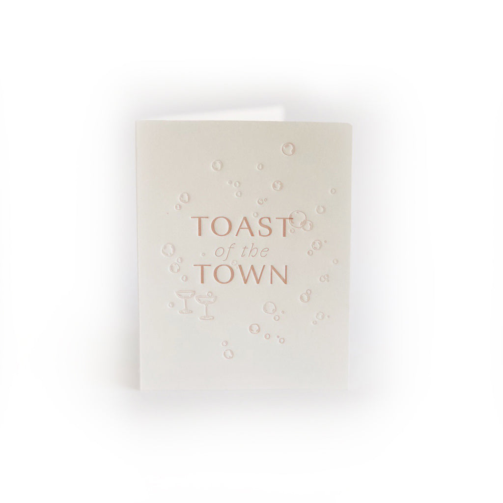 Toast of the Town greeting card