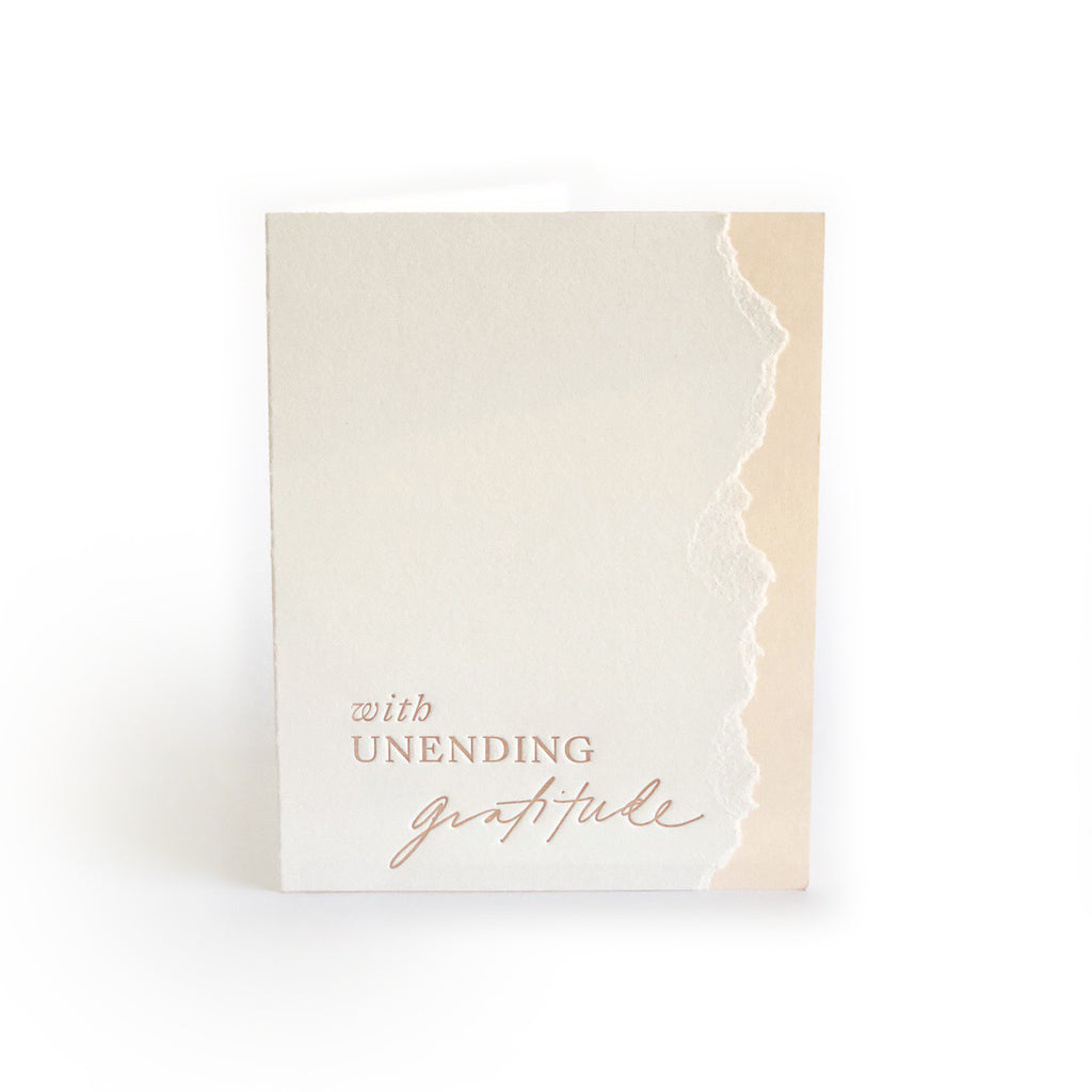With Unending Gratitude greeting card