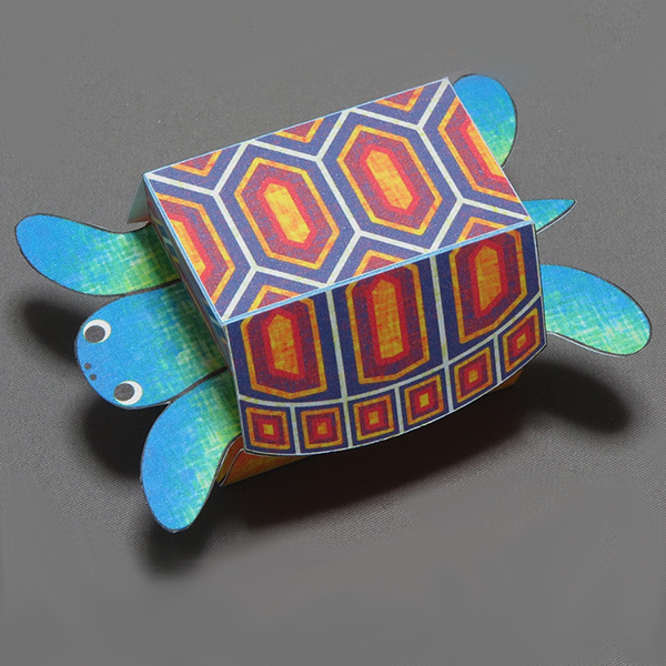 Kamikara Paper Craft Surprised Turtle