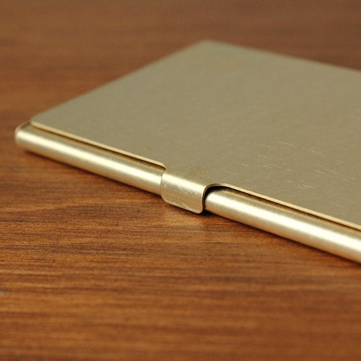 Picus Rust and Solid Brass Business Card Case