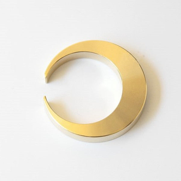 Futagami Solid Brass Crescent Moon Circular Bottle Opener