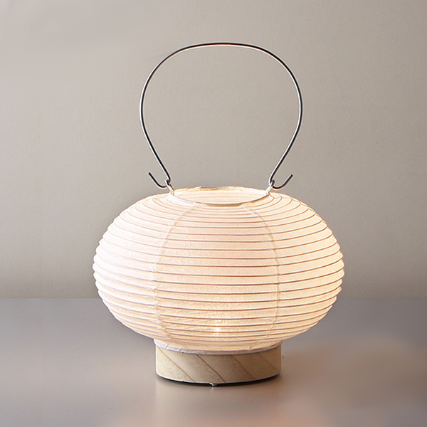 Fores Handmade Japanese Washi Paper Table LED Lantern Lamp - Maru (Circle)