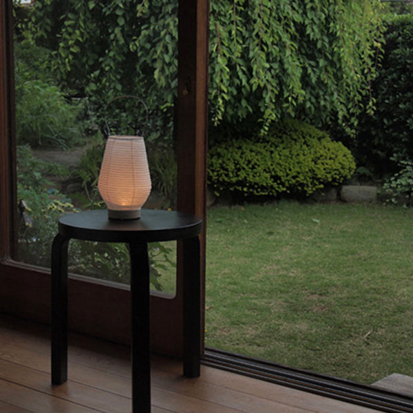 Fores Handmade Japanese Washi Paper Table LED Lantern Lamp - Musubi (Drop)