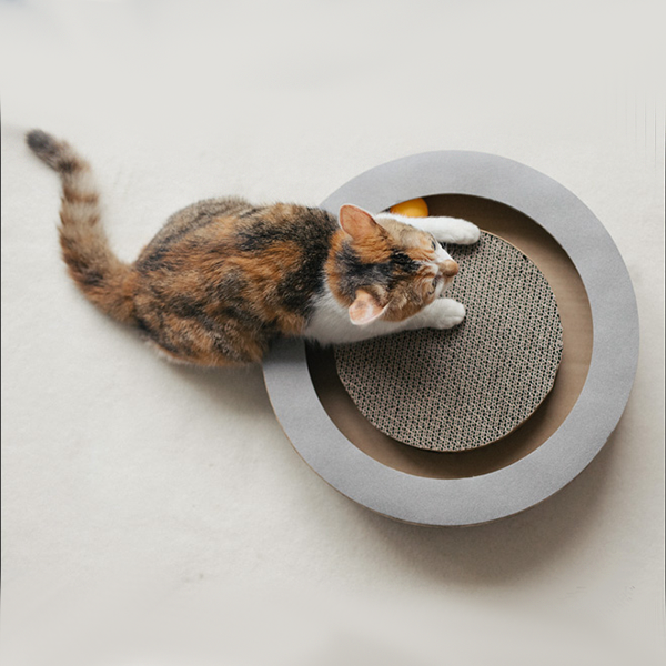 K&H Cardboard Cat Toy With Rolling Balls
