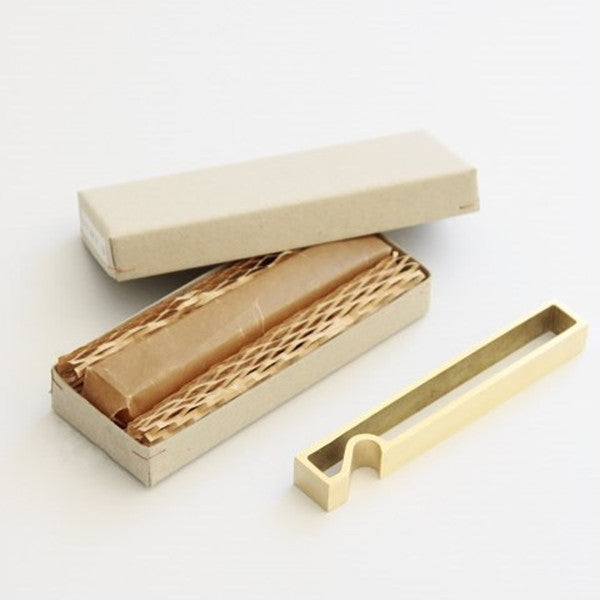 Futagami Solid Brass Rectangle Bottle Opener