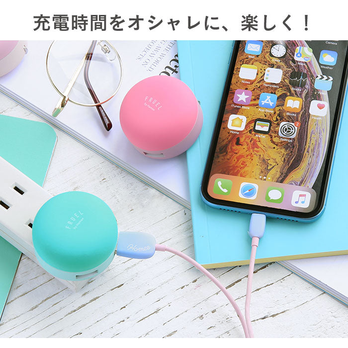 Color Macaroon USB charger outlet flash 2 Port USB AC drum