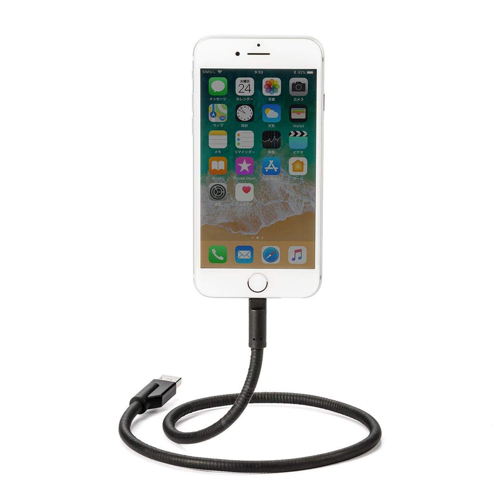 Sanwa iPhone Standing USB Lightning Cable