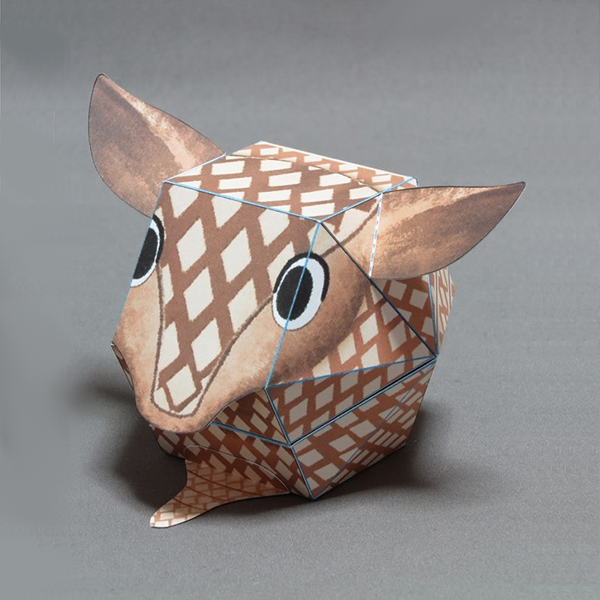 Kamikara Paper Craft Surprised Armadillo