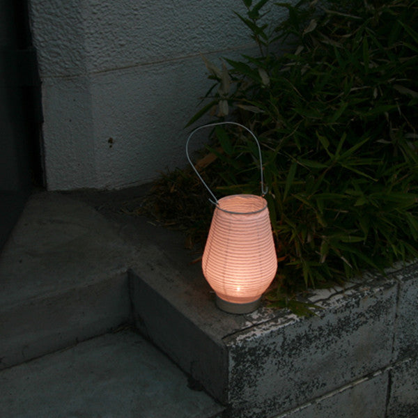 Fores Handmade Japanese Washi Paper Table LED Lantern Lamp - Noppo (Tall)