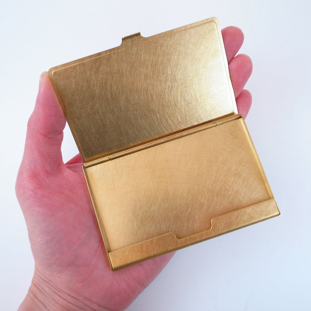 Momentum Factory Orii Picus Special Corrosion Brass Business Card Case