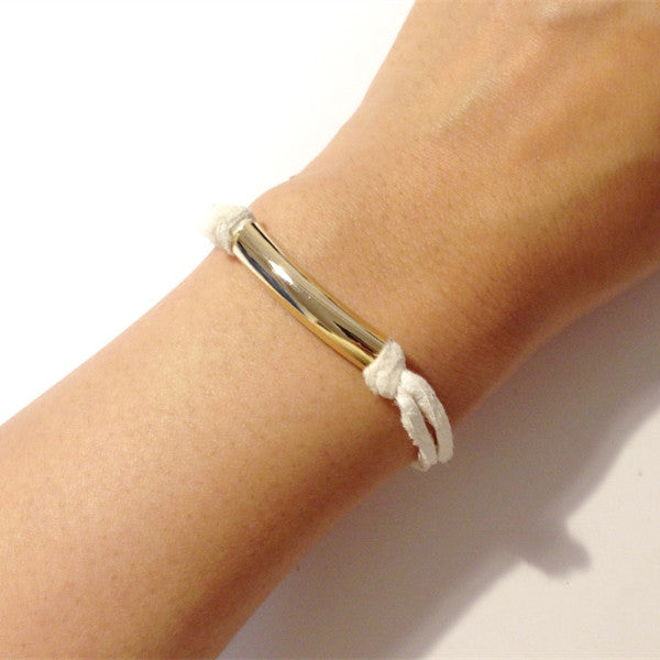 Rough'N'tumble Handmade Accessory Deer Skin Tube Bracelet