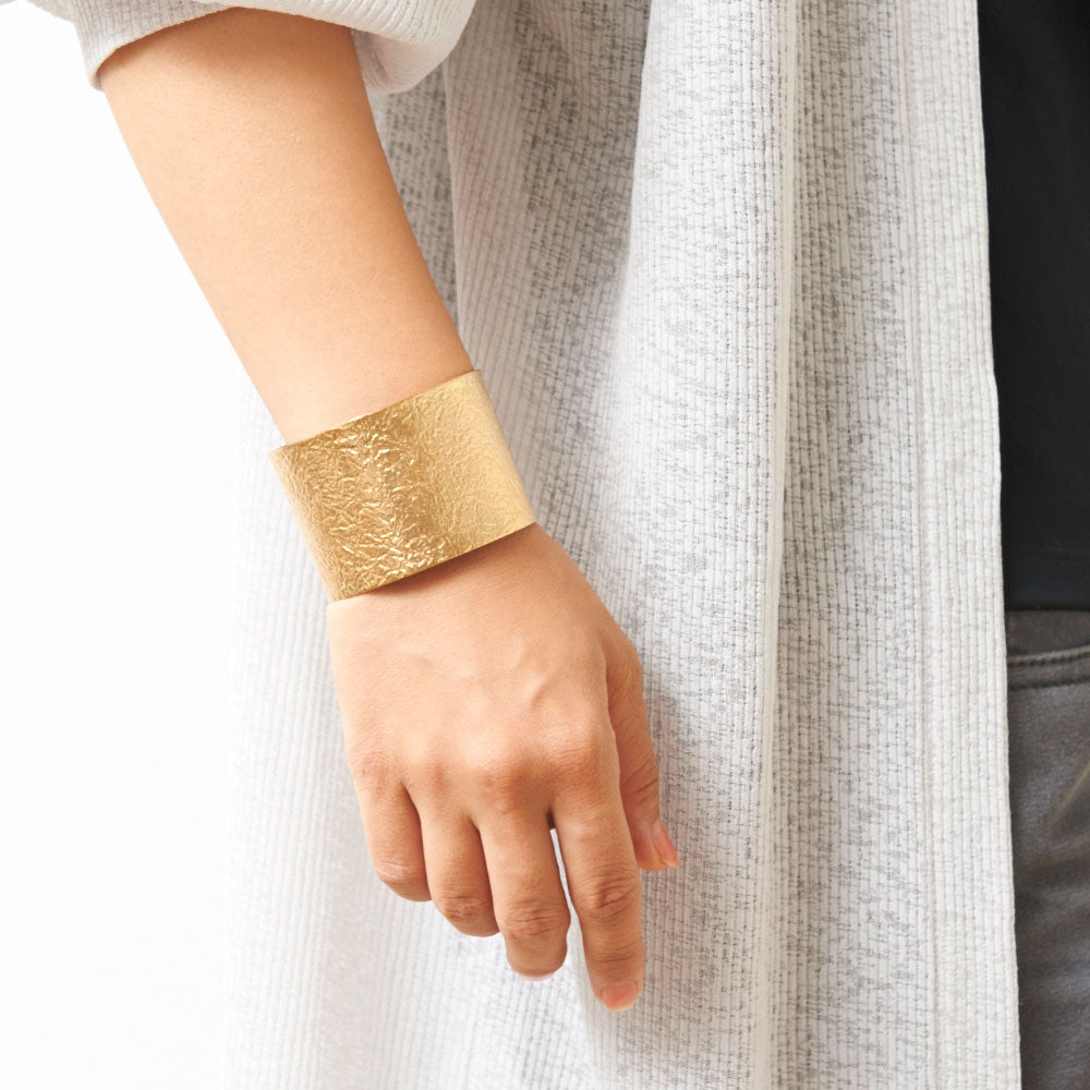 Tin Breath 24K Gold Plated Bracelet Jewelry 50 mm