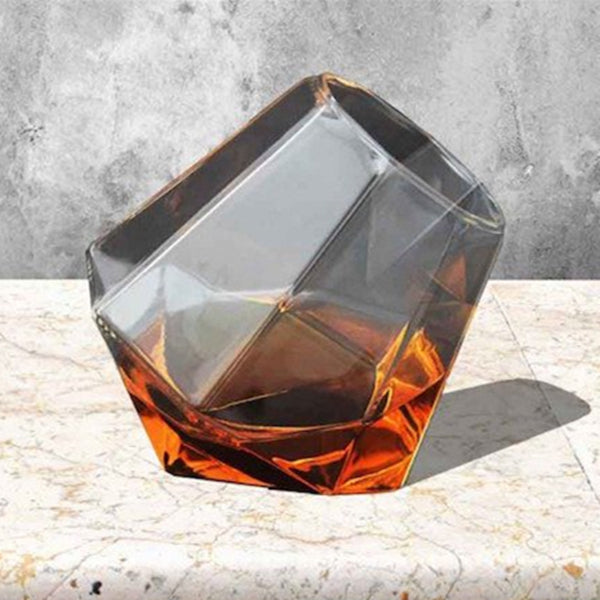 Unique Tumblers Diamond Shaped Glass Wine Cup