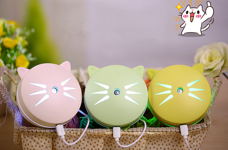 Cute Cat Animal Light Humidifier