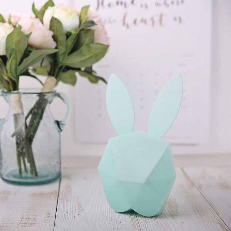 SAONGER Cute Rabbit Night Light Alarm Clock