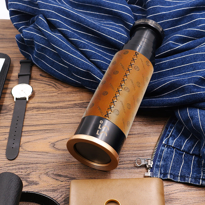 LKK55 Leather Telescope Water Bottle