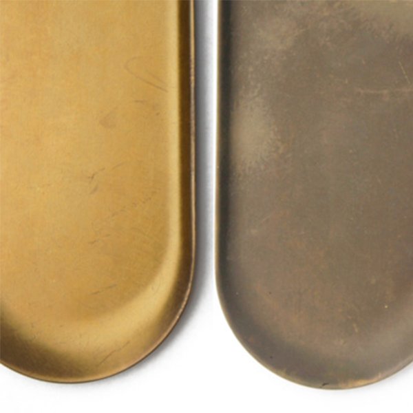 Picus Metal Decorative Brass Oval Tray