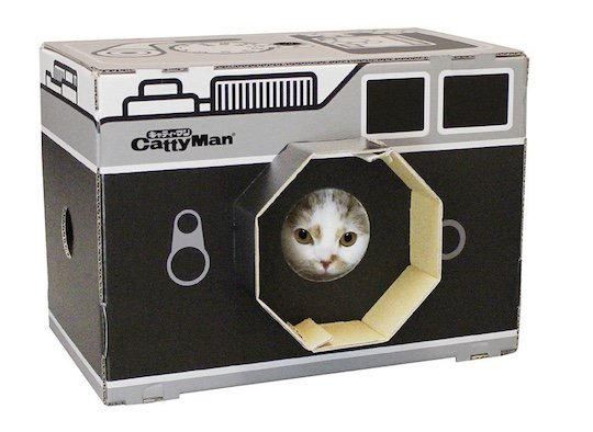 CattyMan Cat Scratcher House Vintage Camera