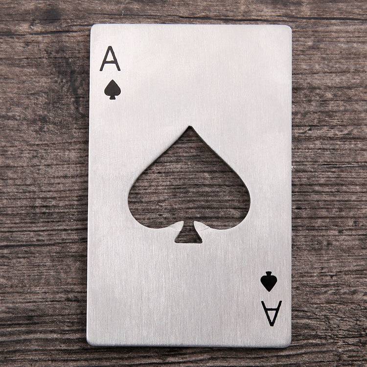 Innovative Stainless Poker Cards Beer Bottle Opener