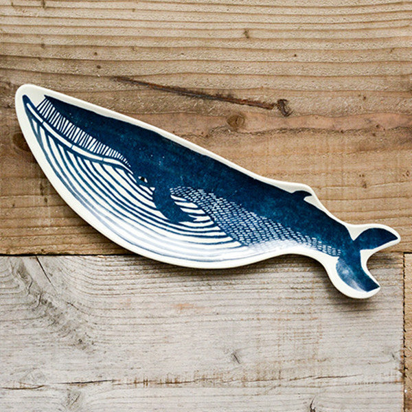 Kata kata& Classiky Japanese Pottery Animals Plate Whale