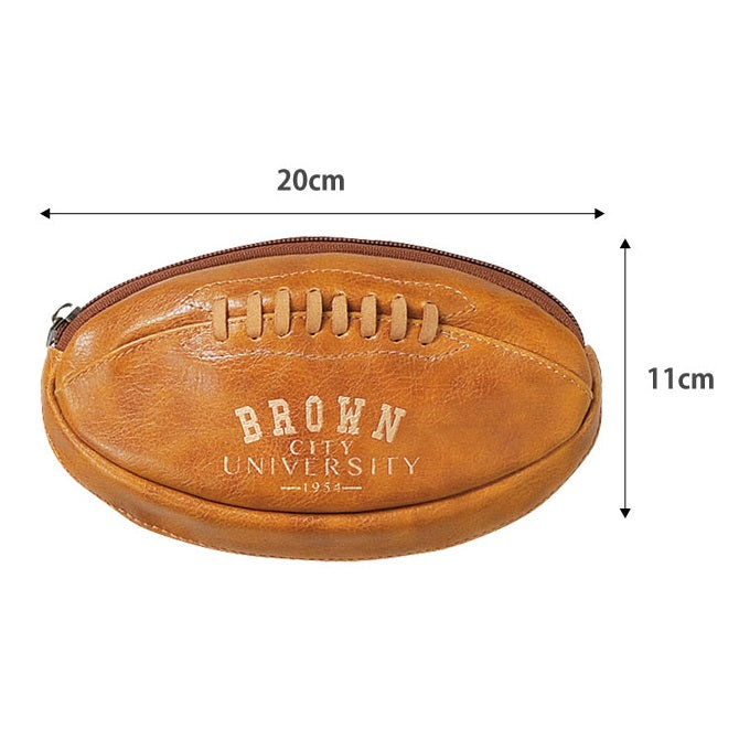 Classic Sports Of University American Football Leather Series