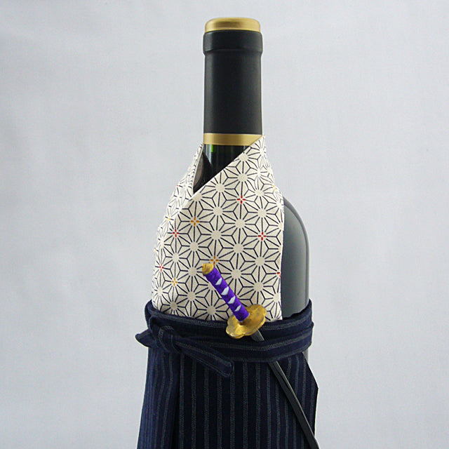 Wanokura Japanese Kimono Red Wine Champagne Bottle Cover