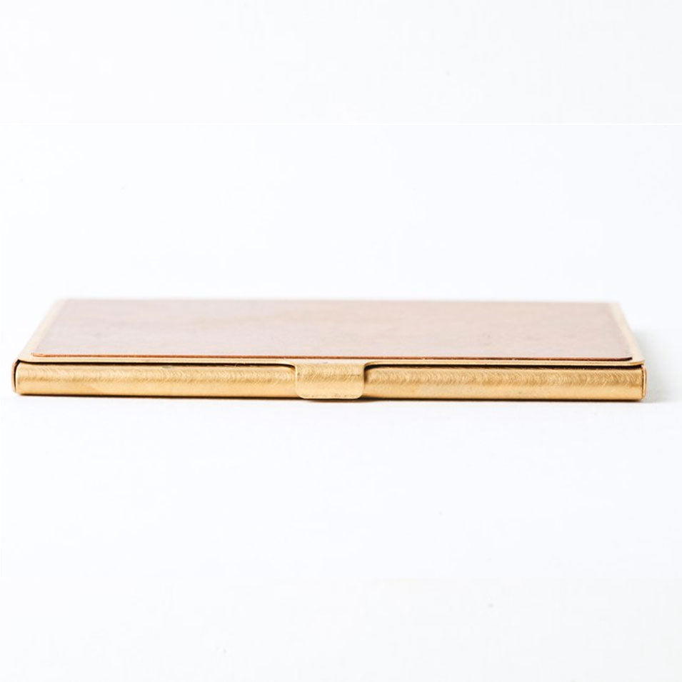 Picus Special Corrosion Brass Business Card Case - JPVIBES