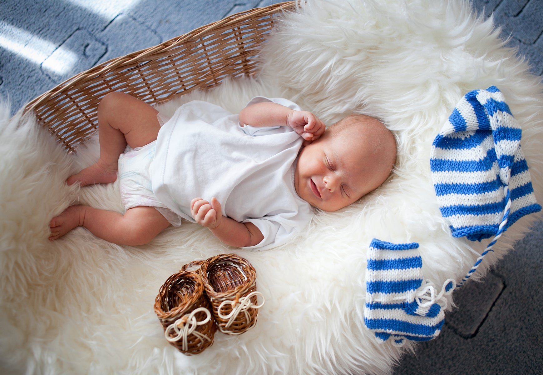 Faux Fur Blanket for infants