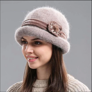 Rabbit Fur Winter Hat for Women ~ Beanies ~ Skullies
