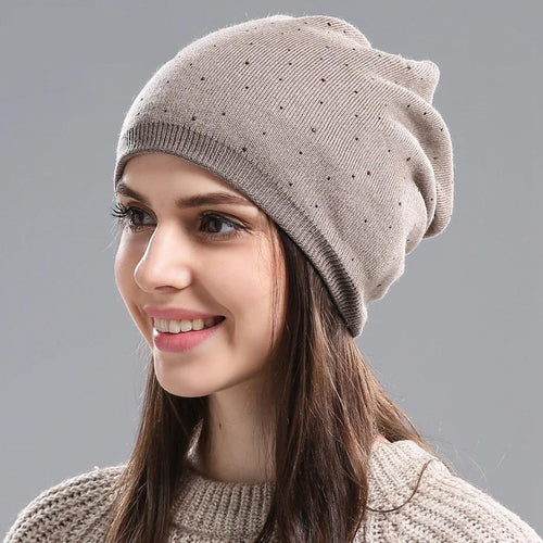 Women Winter Knitted Wool Hat ~ Ski Cap - Skullies - Beanies - BeachBeanies