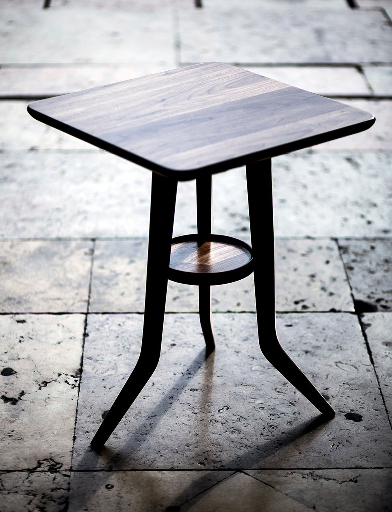 portuguese table, portuguese design, 3 leg table, wood table, solid wood, walnut, table cafe, iconic table