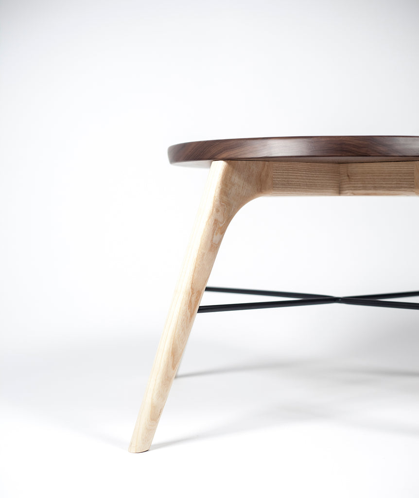 Nest luxury table - walnut, ash, classic, center table, solid wood
