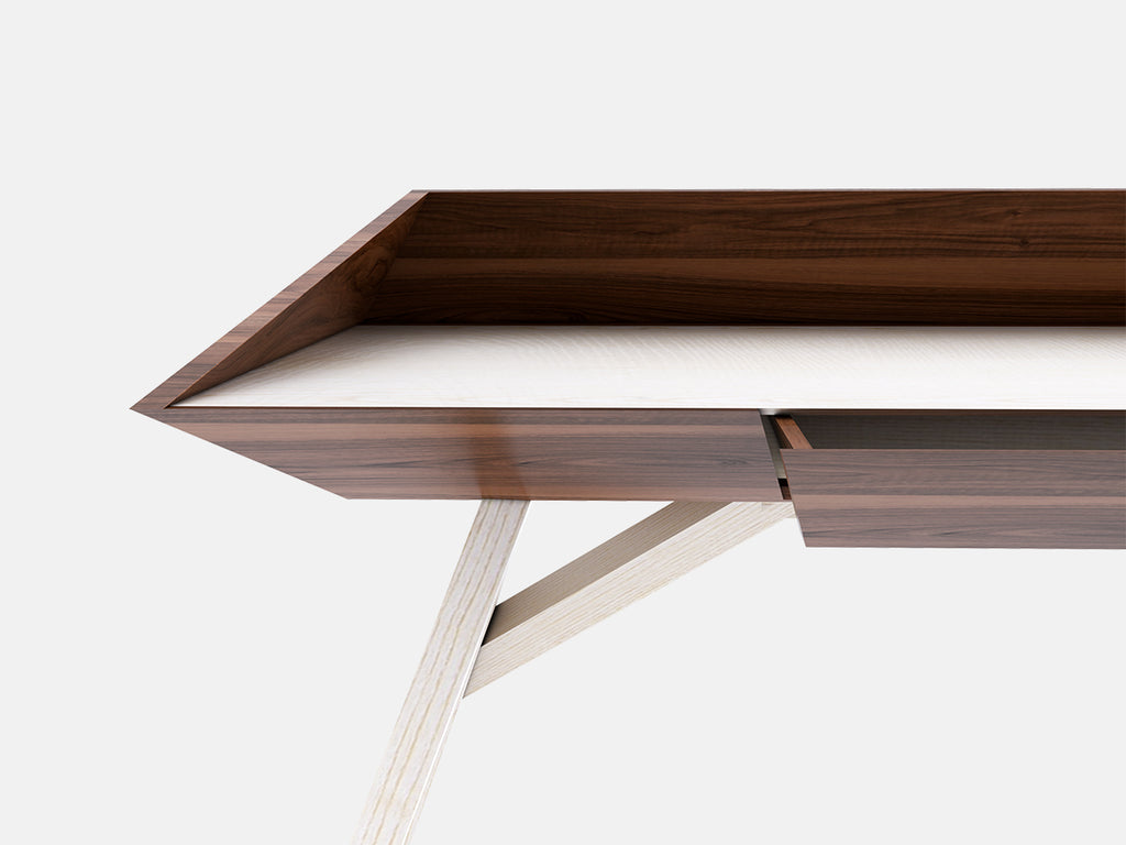WoW Desk - Luxury Wood Desk-  perfect combination of ash and walnut