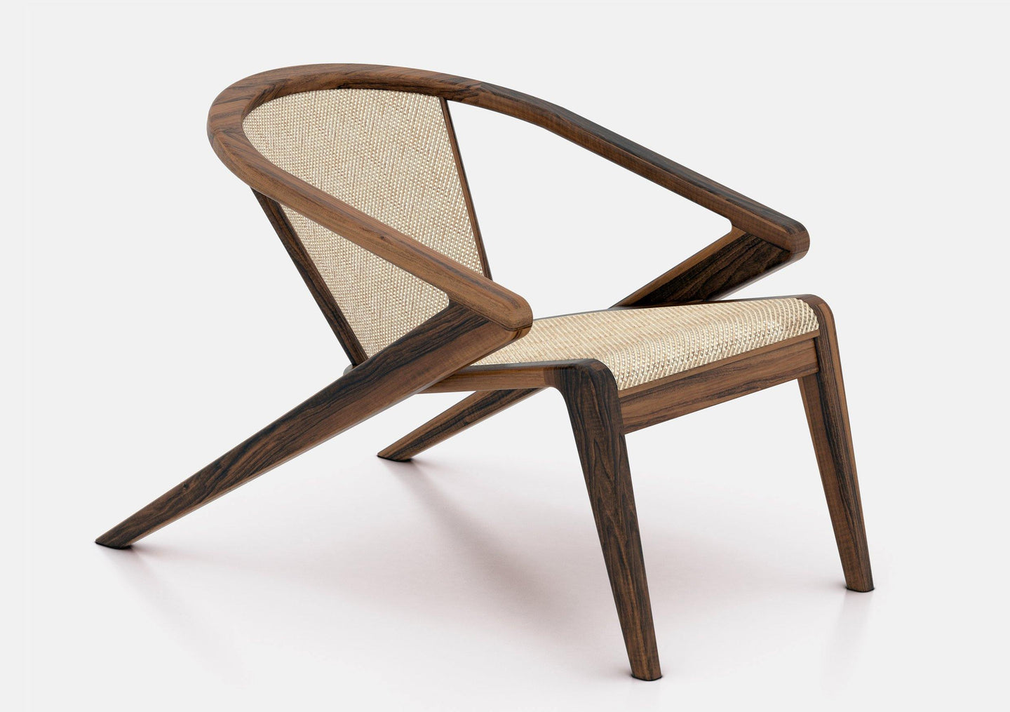P.R. LOUNGE Chair | Natural Straw