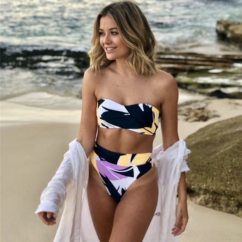 Kaira High Wasted Bandeau Swimwear - Bikini Project