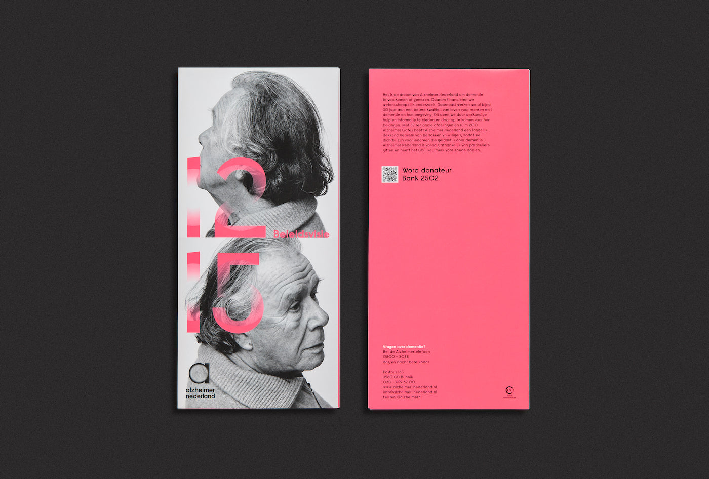 Alzheimer Nederland worked with Studio Dumbar on their new identity
