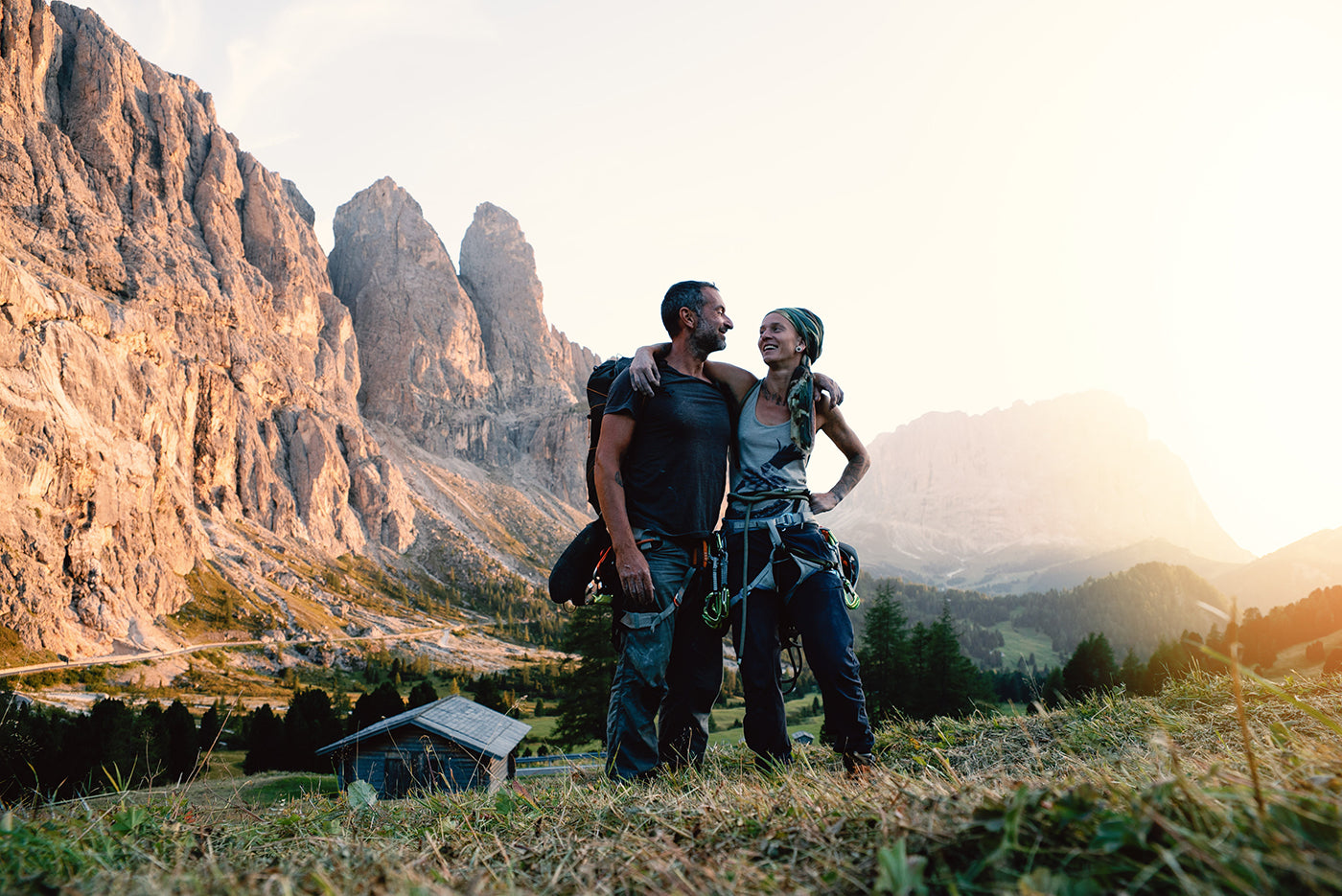 Kai Branss and his partner Julie posing for a picture outdoors in front of mountains on their travels to Corsica. (Photo: Kai Branss)