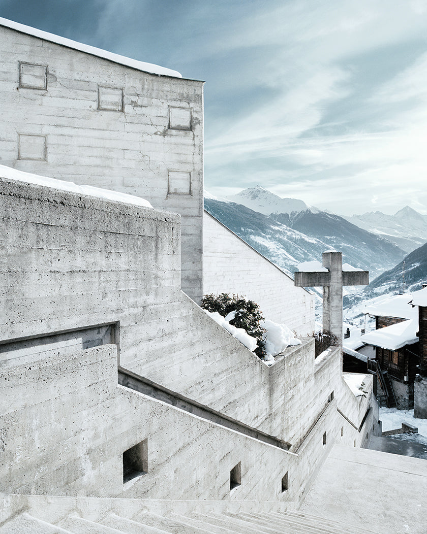 A Brutalist Spiritual Sanctuary in the Swiss Alps