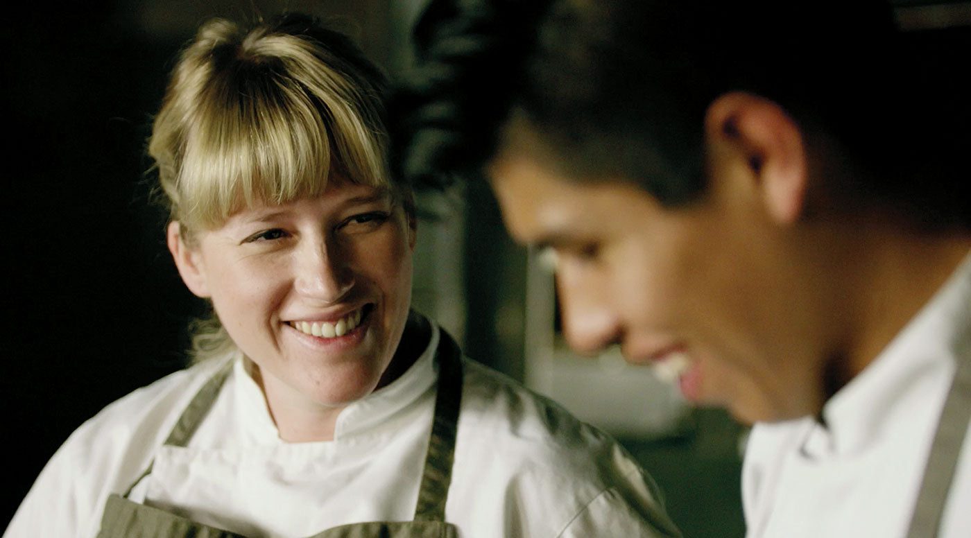 Danish chef Kamilla Seidler smiling. She is head chef at the Bolivian restaurant Gustu in La Paz. (Photo: Michael Jepsen)