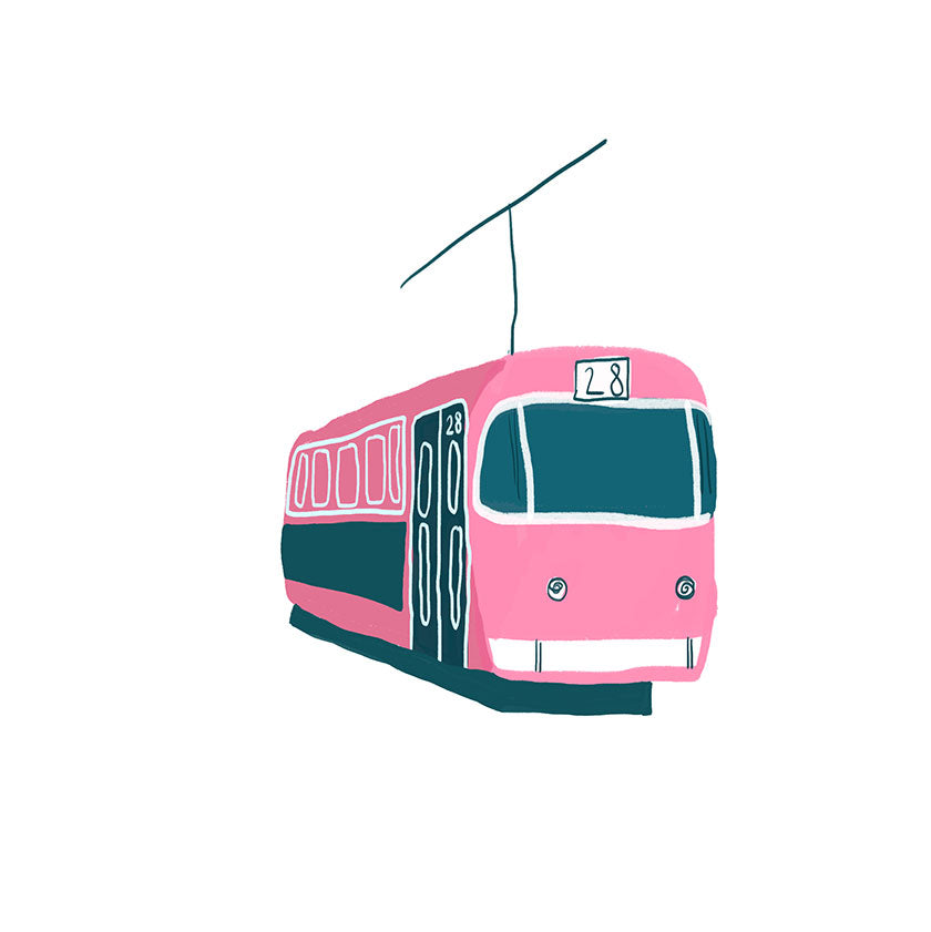 Illustration of a typical tram in Lisbon (Jessica Smith)